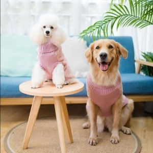Turtleneck Knitted Furry Cold Weather Dog Outfit